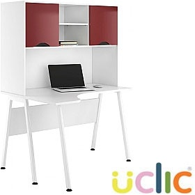 NEXT DAY Aspire Reflections Corner Desk With Closed Storage £291 - Next Day Office Furniture