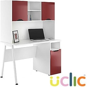 NEXT DAY Aspire Reflections Pedestal Desks With Closed Storage £325 - Next Day Office Furniture