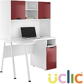 NEXT DAY Aspire Reflections Corner Pedestal Desk With Closed Storage £380 - Next Day Office Furniture
