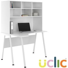 NEXT DAY Aspire Kaleidoscope Corner Desk With Open Storage £249 - Next Day Office Furniture