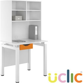 NEXT DAY Engage Kaleidoscope Single Drawer Desks With Open Storage £255 - Next Day Office Furniture