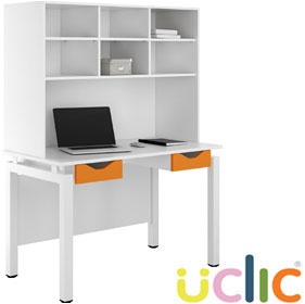 NEXT DAY Engage Kaleidoscope Double Drawer Desks With Open Storage £312 - Next Day Office Furniture