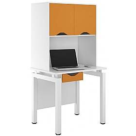 NEXT DAY Engage Kaleidoscope Single Drawer Desks With Closed Storage £282 - Next Day Office Furniture