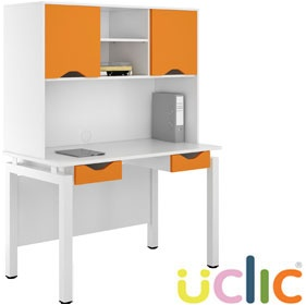NEXT DAY Engage Kaleidoscope Double Drawer Desks With Closed Storage £355 - Next Day Office Furniture
