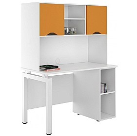 NEXT DAY Engage Kaleidoscope Open Pedestal Desk With Closed Storage £316 - Next Day Office Furniture