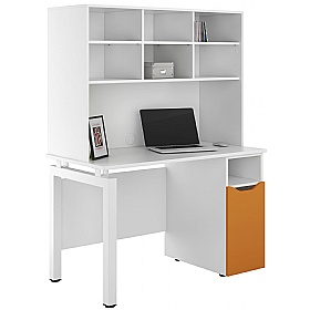 NEXT DAY Engage Kaleidoscope Pedestal Desks With Open Storage £378 - Next Day Office Furniture