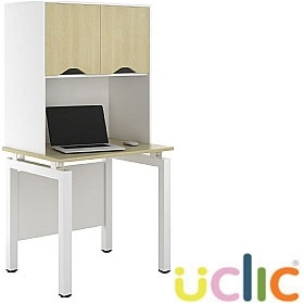 NEXT DAY Engage Sylvan Desks With Closed Storage £352 - Next Day Office Furniture