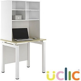 NEXT DAY Engage Sylvan Desks With Open Storage £241 - Next Day Office Furniture