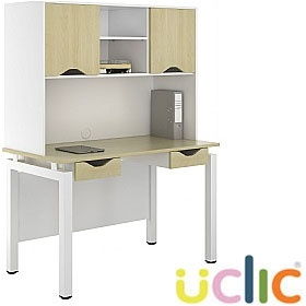NEXT DAY Engage Sylvan Double Drawer Desks With Closed Storage £391 - Next Day Office Furniture