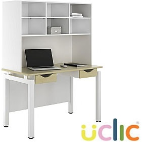 NEXT DAY Engage Sylvan Double Drawer Desks With Open Storage £312 - Next Day Office Furniture