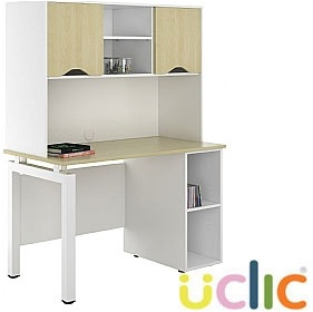 NEXT DAY Engage Sylvan Open Pedestal Desk With Closed Storage £296 - Next Day Office Furniture