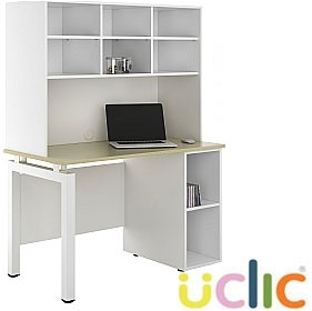 NEXT DAY Engage Sylvan Open Pedestal Desk With Open Storage £363 - Next Day Office Furniture