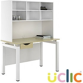 NEXT DAY Engage Sylvan Single Drawer Desks With Open Storage £281 - Next Day Office Furniture
