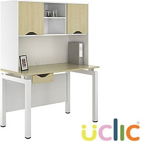 NEXT DAY Engage Sylvan Single Drawer Desks With Closed Storage £311 - Next Day Office Furniture