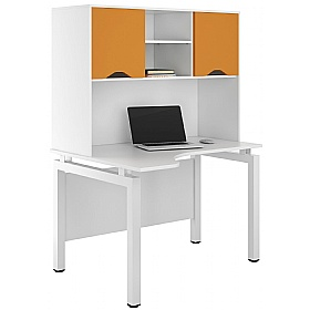 NEXT DAY Engage Kaleidoscope Corner Desks With Closed Storage £334 - Next Day Office Furniture