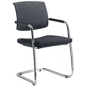 Zeta Fabric & Mesh Cantilever Conference Chair £288 - Office Chairs