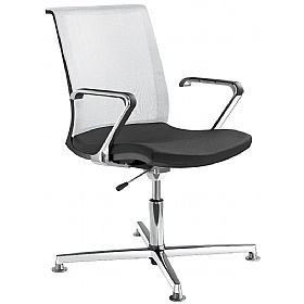Lyra Net Fabric & Mesh Swivel Conference Chair £321 - Office Chairs