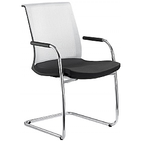 Lyra Net Fabric & Mesh Cantilever Conference Chair £307 - Office Chairs