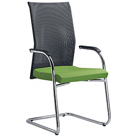 Web Fabric & Mesh Cantilever Conference Chair £342 - Office Chairs