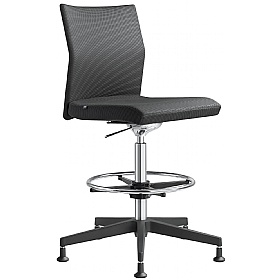 Omega Fabric & Mesh Ring Base Chair £367 - Office Chairs