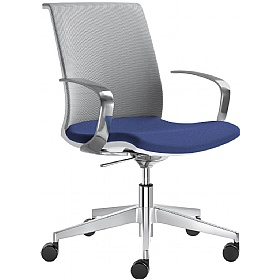 Omega Fabric & Mesh Premium Task Chair £332 - Office Chairs