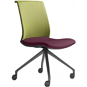 Omega Fabric & Mesh Mobile Conference Chair £316 - Office Chairs