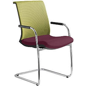 Omega Fabric & Mesh Cantilever Conference Chair £327 - Office Chairs