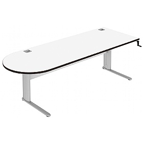 Elite Optima Plus Height Adjustable D-End Desks £907 - Office Desks