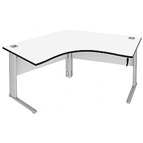 Elite Optima Plus Height Adjustable 120 Degree Workstations £895 - Office Desks