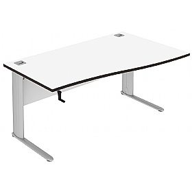 Elite Optima Plus Height Adjustable Single Wave Desks £735 - Office Desks