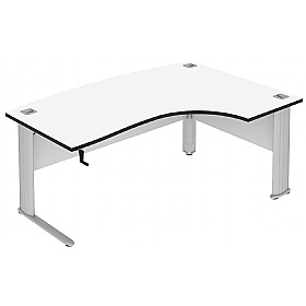Elite Optima Plus Height Adjustable Bow Fronted Ergonomic Desks £1177 - Office Desks