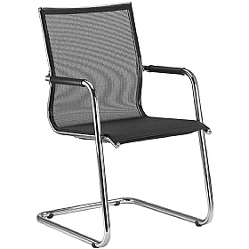 Pluto Mesh Cantilever Conference Chairs £625 - Office Chairs