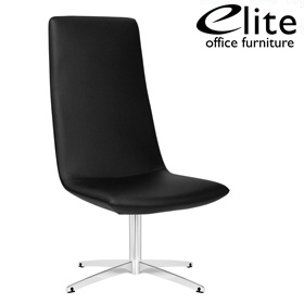 Elite Chique High Back Leather Swivel Lounge Chair £689 - Reception Furniture