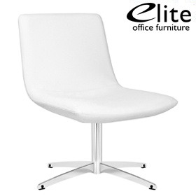 Elite Chique Medium Back Leather Swivel Lounge Chair £496 - Reception Furniture