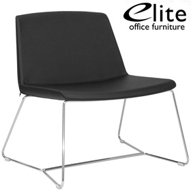 Elite Chique Sled Base Leather Lounge Chair £401 - Reception Furniture