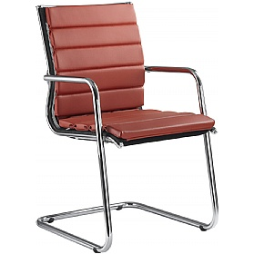 Pluto Leather Cantilever Conference Chairs £703 - Office Chairs