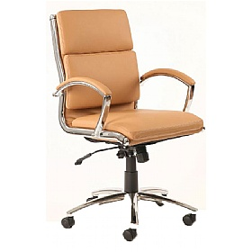 Formosa Medium Back Enviro Leather Chair Tan £211 - Office Chairs