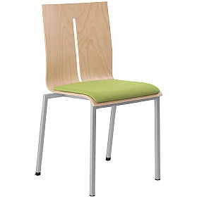 Twist Padded Wooden Stackable Chairs £206 - Bistro Furniture