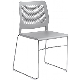 Time Plastic Skid Base Stackable Chairs £121 - Office Chairs