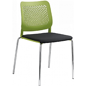 Time Fabric Padded Plastic 4-Leg Stackable Chairs £139 - Office Chairs