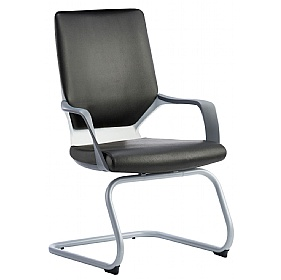 Profi Leather Faced Cantilever Office Chair Black £193 - Office Chairs