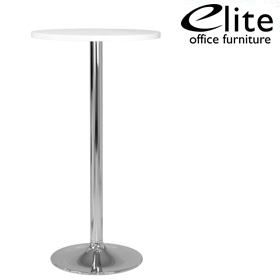 Elite Round Bar Table Chrome Trumpet Base £347 - Bistro Furniture
