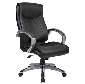 Norwich Executive Leather Faced Office Chair £132 - Office Chairs