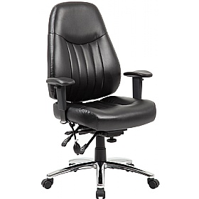Alpha 24 Hour Leather Task Chair £189 - Office Chairs