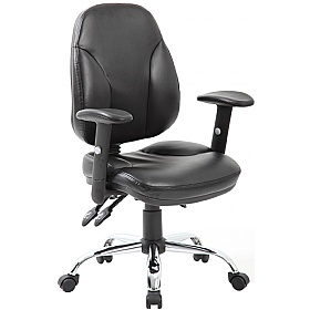 Select Ergonomic Leather Operator Chair £74 - Office Chairs