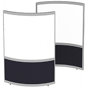 Elite Huddle Pod Curved Screen With Whiteboard Panels £1009 - Office Desks