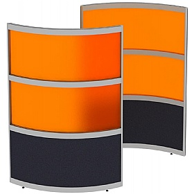 Elite Huddle Pod Curved Screen With Acrylic Panels £1343 - Office Desks