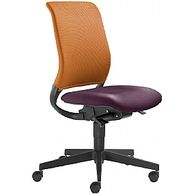 Theo Leather & Mesh Operator Chair £255 - Office Chairs