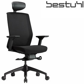 Bestuhl J1 Black Mesh Task Chair With Headrest £316 - Office Chairs