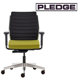 Pledge Plan Ribbed Medium Back Executive Chair £324 - Office Chairs